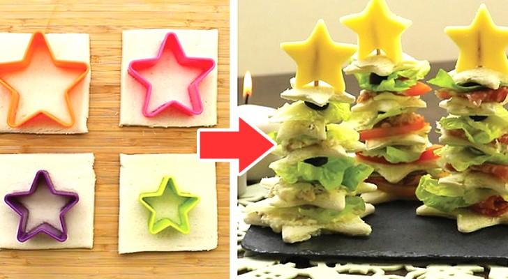 Il metodo passo dopo passo per preparare alberelli natalizi di pancarrè: snack semplici, belli e buoni