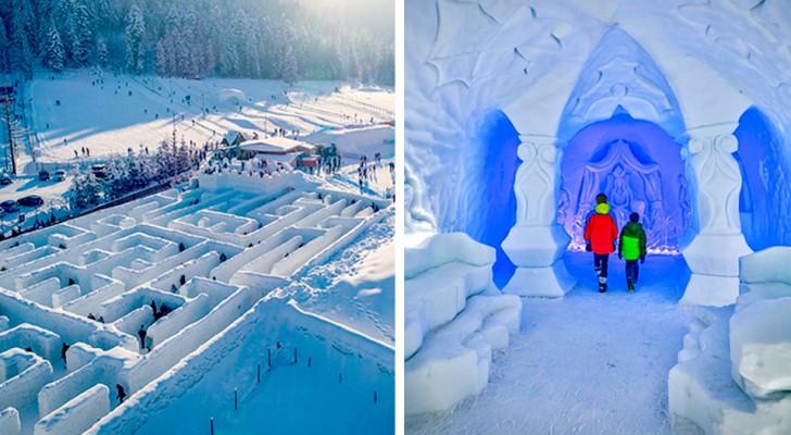 Snowlandia: in Polonia esiste un labirinto di ghiaccio grande quanto 10 campi da tennis
