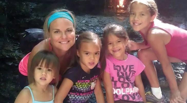 Una donna adotta tutte e 4 le figlie della sua amica morta a causa di un tumore al cervello