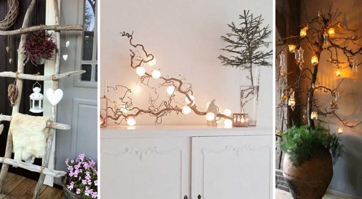 13 idee per decorare la vostra casa in occasione del Natale utilizzando il legno