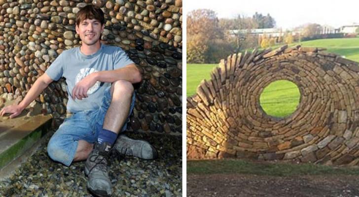 Faceva il muratore ed ora è un artista: questo ragazzo realizza delle meravigliose sculture con semplici pietre