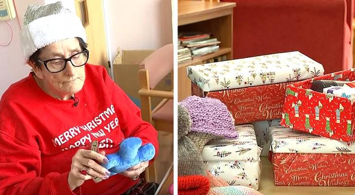 Esta vovózinha do asilo faz presentes de Natal para os necessitados, ajudando a si mesma e aos outros