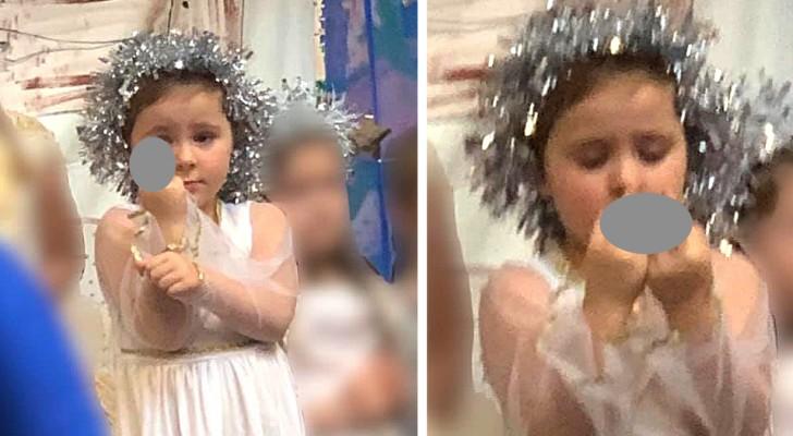 Dieses Kind verbrachte das ganze Weihnachtsspiel damit, der Öffentlichkeit ihren Mittelfinger zu zeigen