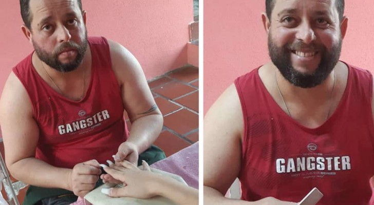 Quest'uomo ha lasciato il lavoro di vigilante per dedicarsi a fare la manicure, sconfiggendo la sua depressione
