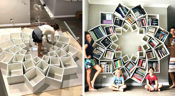 Este casal de pais fez uma livraria única e original para os seus filhos