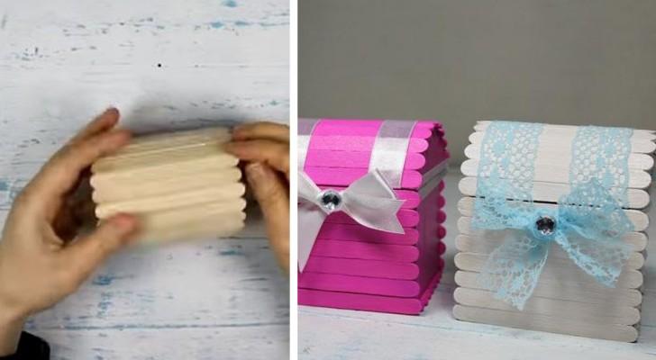 Il tutorial passo dopo passo per creare un delizioso bauletto con i bastoncini del gelato