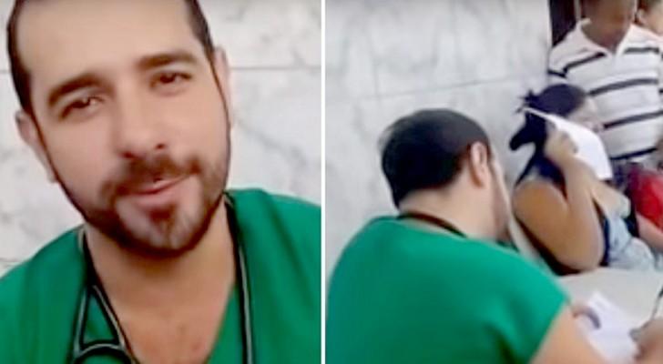Licencié brusquement, ce médecin a consulté ses patients sur le trottoir de l'hôpital