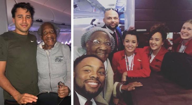 Un inconnu réalise le rêve d'une vieille dame de voyager en première classe en lui proposant d'échanger leurs places