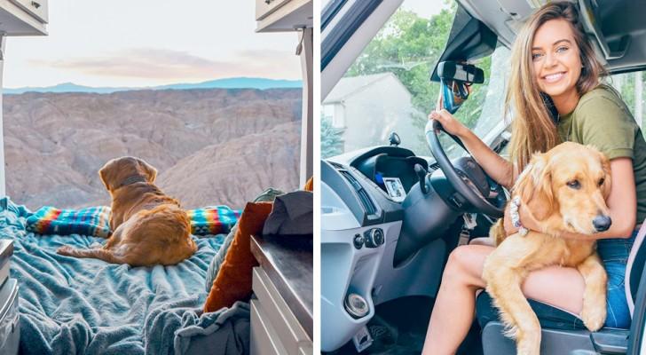 Deja el novio , los tres trabajos y decide de viajar por el país a bordo de su furgoneta junto a su amado perro