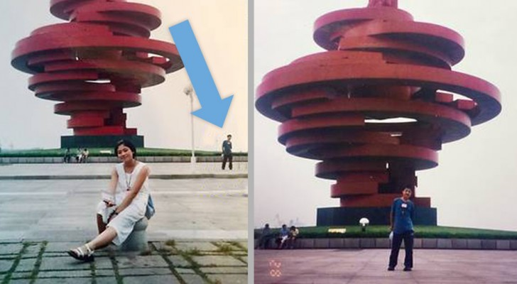 Een man herkent zichzelf op een foto van zijn vrouw die 11 jaar voordat ze elkaar ontmoetten, werd genomen