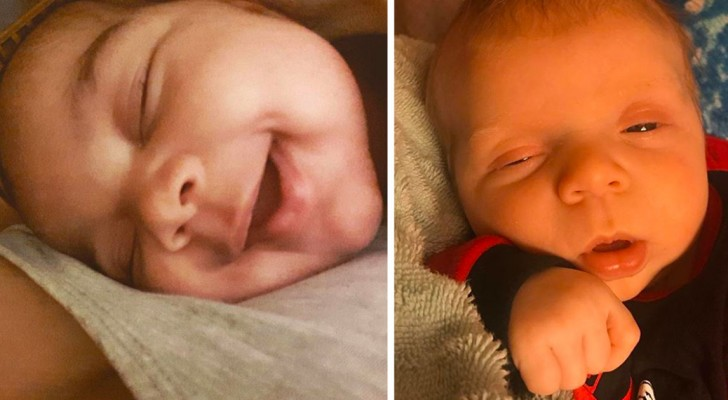 Las maravillosas expresiones de éxtasis de algunos recién nacidos después de la alimentación