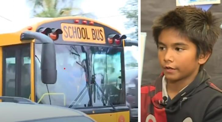 Die Busfahrerin hatte getrunken: ein Kind riecht den Alkohol und ruft die Polizei, um eine mögliche Tragödie zu vermeiden