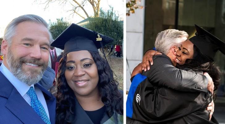 Uma mãe de 43 anos consegue se formar graças a um desconhecido que pagou o seu débito de 700 dólares