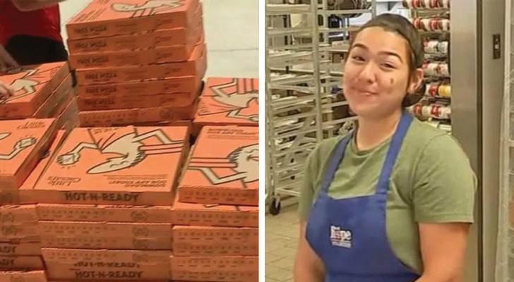 Esta jovem organizou um pizza party para os moradores de rua ao invés de fazer uma festa de formatura