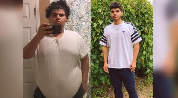 Grâce à un entraînement constant, ce garçon a changé de vie en perdant 90 kg en un an