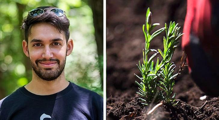 Questo ragazzo ha chiesto come regalo di laurea un pezzo di terra dove coltivare spezie e piante aromatiche