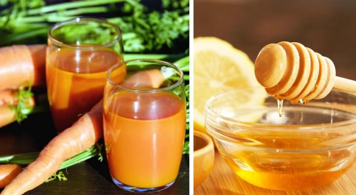 Carote, miele e limone: un concentrato di vitamine che può aiutare ad alleviare i sintomi di tosse e raffreddore