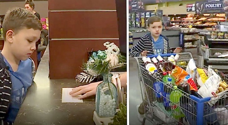 This generous young boy used all his savings to buy things for the neediest homeless people