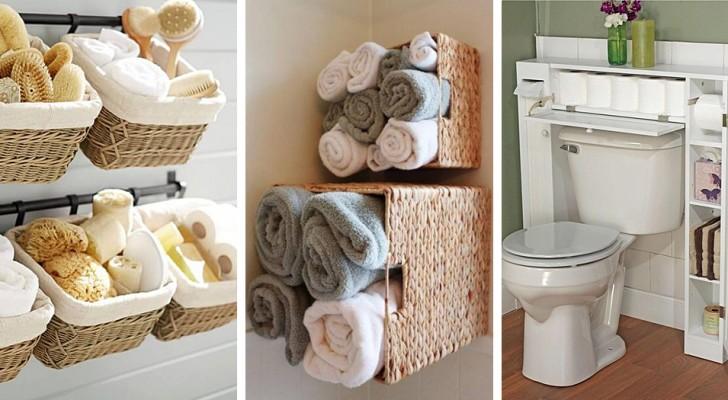 32 modi utili e ingegnosi per trovare spazio anche nei bagni più piccoli