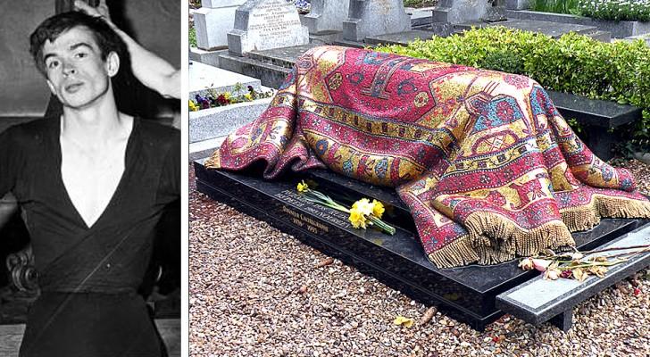 A Parigi, la tomba del ballerino Nureev sembra coperta da un tappeto: in realtà è un meraviglioso mosaico