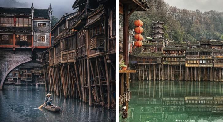 Una delle più belle città della Cina è questo piccolo villaggio quasi interamente costruito su palafitte