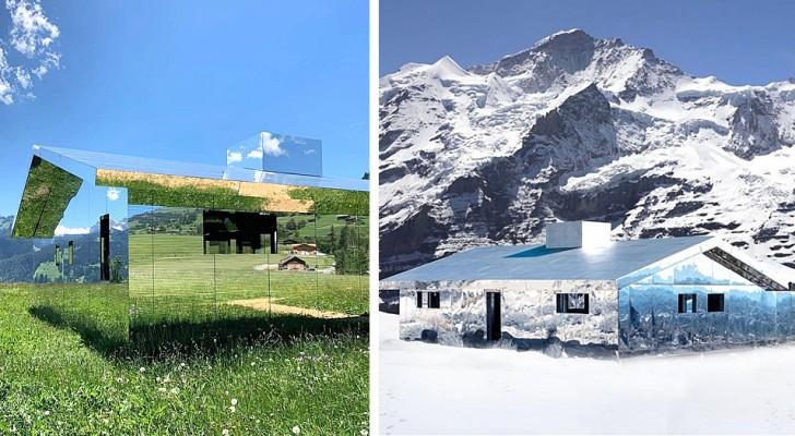 Questa casa è rivestita di specchi: si inserisce perfettamente nel paesaggio e non ha mai lo stesso aspetto