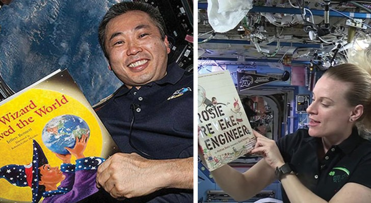 Es gibt einen Youtube-Kanal, auf dem die Astronauten den Kindern aus dem Weltraum Gute-Nacht-Geschichten vorlesen