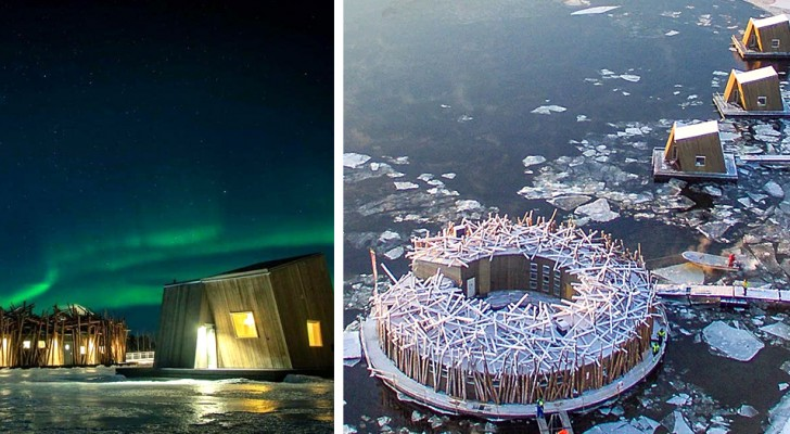 Questo albergo in Svezia accoglie i suoi ospiti in spettacolari strutture galleggianti immerse nella natura