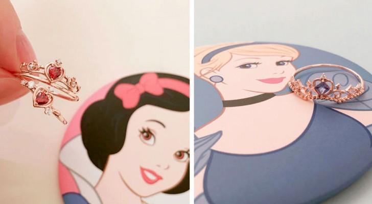 Disney a créé une série de bagues de fiançailles inspirées des plus célèbres princesses de dessins animés