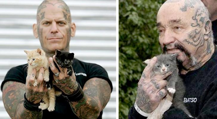 Este grupo de motociclistas e fisiculturistas cuida de animais salvando-os do abandono e dos abusos