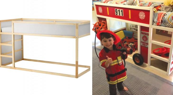 10 idee per trasformare la struttura letto Ikea in qualcosa di molto più magico e divertente per i bambini