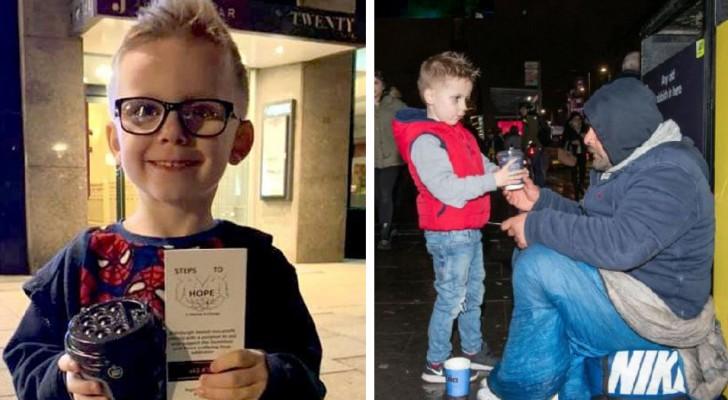 Deze 6-jarige jongen brengt warme dranken en een goede dosis glimlachen naar de daklozen van zijn stad