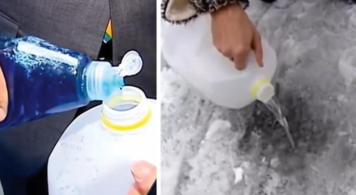 Il trucco rapido e super-efficace per sciogliere all'istante il ghiaccio sul parabrezza dell'auto