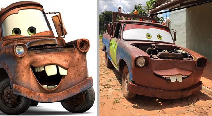 Per il compleanno del figlio, quest'uomo ha trasformato un vecchio pick-up nel carroattrezzi del film