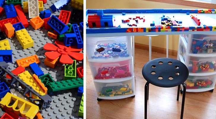Il progetto facilissimo per costruire un tavolo di mattoncini colorati LEGO e divertirsi con i più piccoli