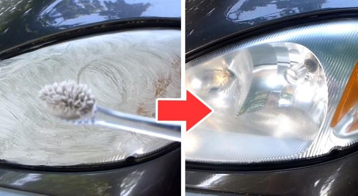 Il trucco casalingo ed economico per far tornare a brillare i fanali delle nostre automobili