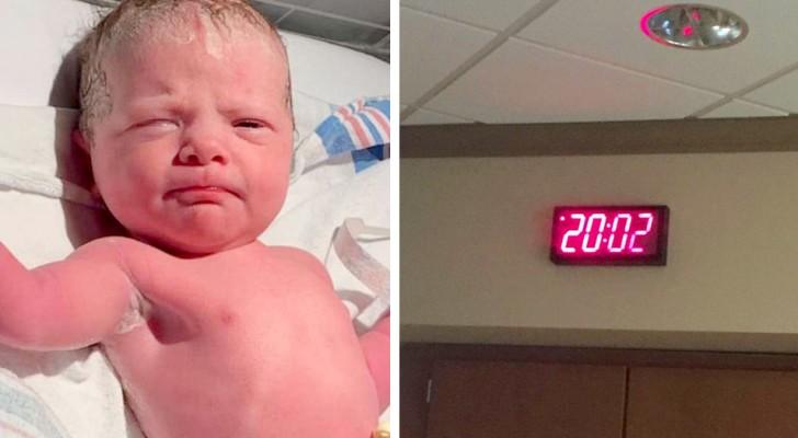 Dit meisje werd geboren op 02/02/2020 om 20.02 en brak een historisch record vanwege de palindroomdag