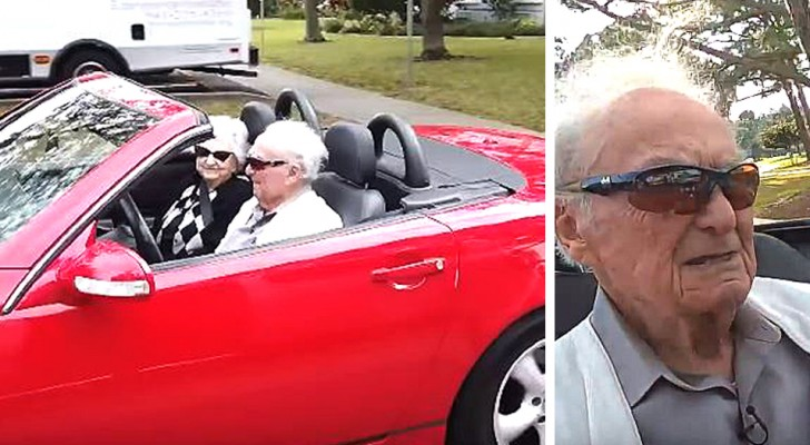 This 107-year-old man still drives his red Mercedes convertible and has no intention of quitting