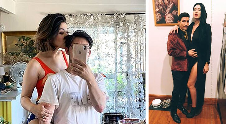 8 tall women proudly display their shorter husbands and dare to challenge height stereotypes