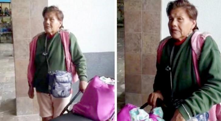 De dochter laat haar zieke moeder bij het busstation achter zonder geld en documenten
