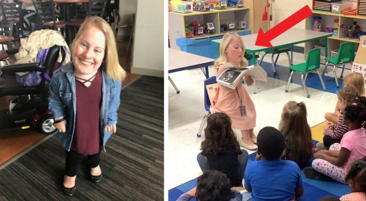 La prendevano in giro perché affetta da una rara forma di nanismo: oggi insegna ai bambini ad accettare le diversità
