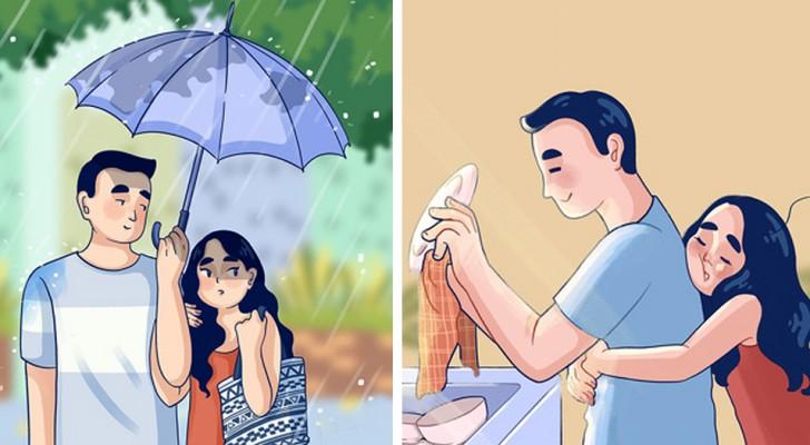 Questa illustratrice racconta l'amore attraverso 12 momenti quotidiani ma carichi di significato