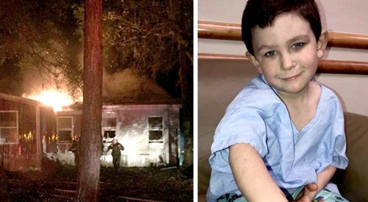 Este menino de 5 anos salvou toda a família de um incêndio em casa