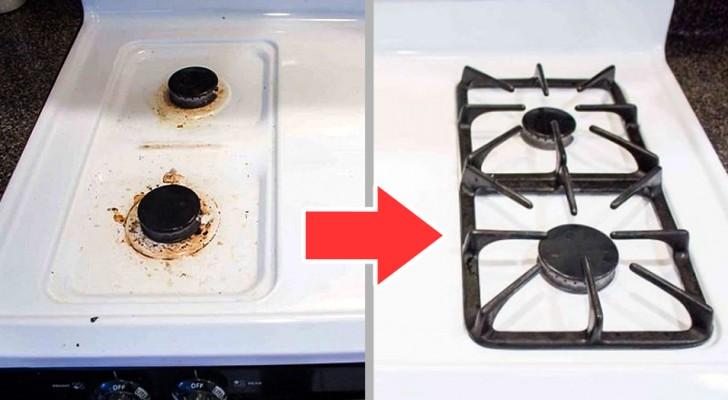 Il metodo fai-da-te per preparare un detergente utile ed economico per far tornare i fornelli come nuovi
