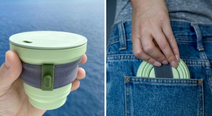 Esistono delle tazze di silicone e bambù per bere caffè: sono riutilizzabili e rispettano l'ambiente