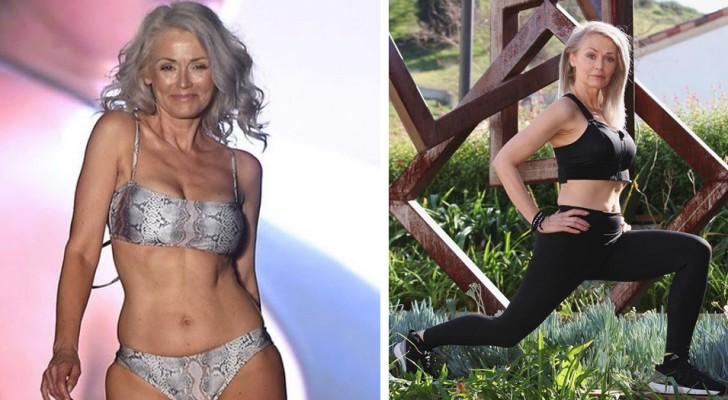 Deze vrouw is 56 jaar oud en blijft model: met haar benijdenswaardige lichaamsbouw heeft ze alle vooroordelen weggenomen