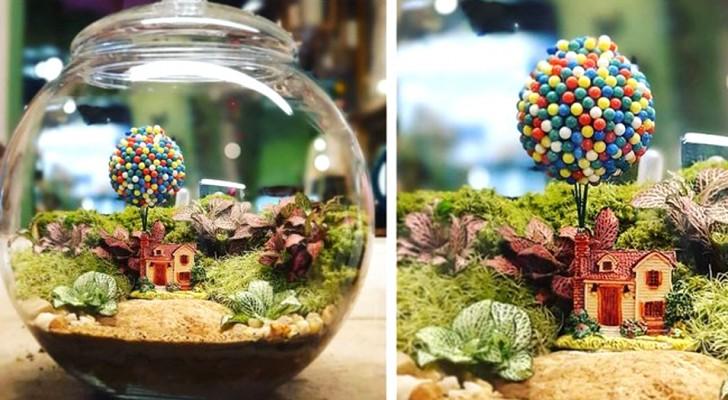 Deze kunstenaar maakt kleine natuurlijke en zelfvoorzienende werelden in glazen flessen en potten