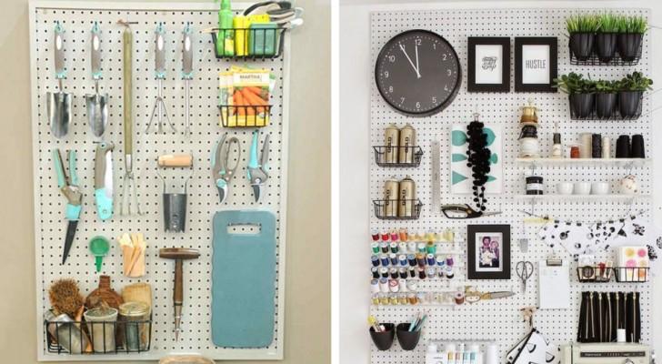 15 idee economiche e brillanti per organizzare gli spazi con i pannelli forati