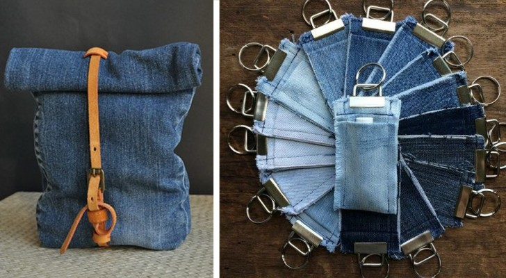 10 proposte creative per riciclare i vecchi jeans e trasformarli in tanti oggetti originali