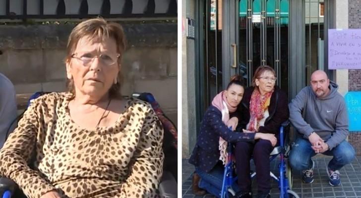 Uma mulher de 74 anos denuncia os seus 4 filhos que a deixaram fora de casa e trocaram a fechadura